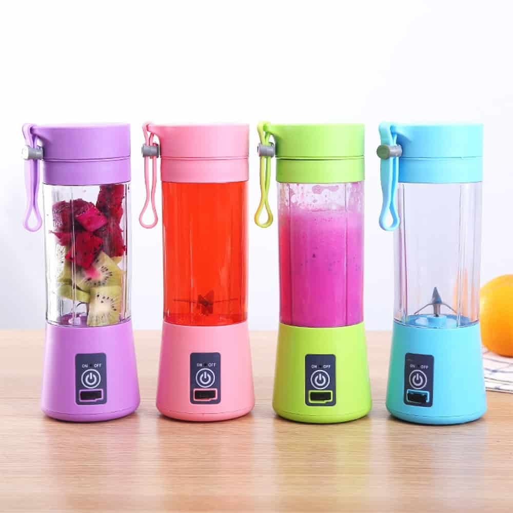 Easy-To-Make Healthy Snacks: Portable Juicer Rechargeable Blender