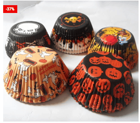 Cupcake Liners Halloween Designs (50Pcs) For Halloween Theme