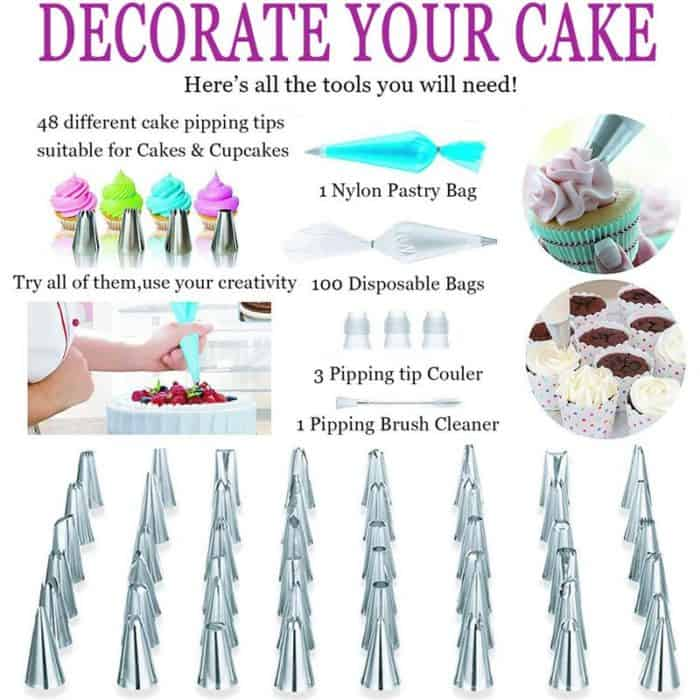 Cake Decorating Kit Pastry Set For Kitchen